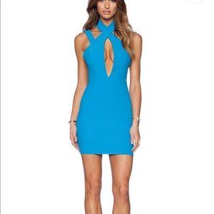 AQ/AQ Simmer Mini Dress Jewel Blue sz. 2 Revolve